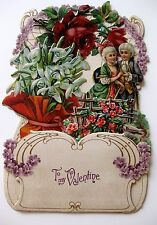 Elaborate 1910s Antique Pull Down Pop Out Valentine's Day Card To My Valentine