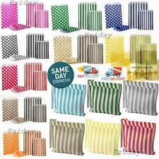 More details for candy striped paper bags for sweet flavour buffet wedding cake gift shop lot