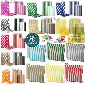 CANDY STRIPE SWEET BAGS 100 50 25 Paper Confectionery Bag Party Favor Wedding UK