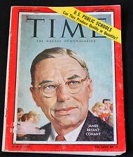 Time Magazine 1959 September 14 James Bryant Conant Vintage Ads Advertisement