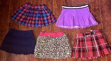 GIRLS Lot SKORTS SIZE 6 ALL JUSTICE Purple Red Navy Skirt Skort Back To School
