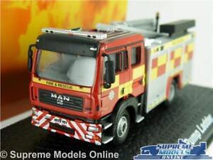 MAN MODEL FIRE ENGINE PUMP LADDER 1:76 SCALE ATLAS OXFORD RED APPLIANCE K8