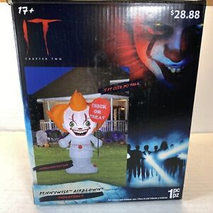IT Chapter Two Halloween Airblown Inflatable 5' Pennywise Clown Decor