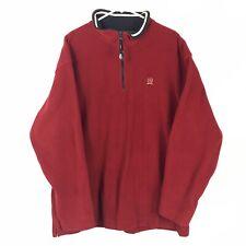 Tommy Hilfiger Mens LS Pullover Half Zip Fleece Sweater Sz XXL Red
