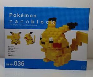 Nanoblock Pokemon - Pikachu Deluxe Edition   Brand New!