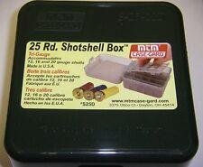 MTM Case Gard™ 25 Round Shotshell Box Tri Gauge 12, 16 & 20 Gauge Green S-25-12D