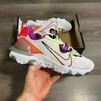 NIKE REACT VISION WHITE TRAINERS SHOES SIZE UK8.5 US9.5 EUR43 CD4373-102