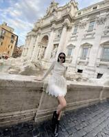 ** GIAMBATTISTA VALLI x H&M SHORT LACE PARTY DRESS HOLIDAYS UK 12 EUR 40 US 8