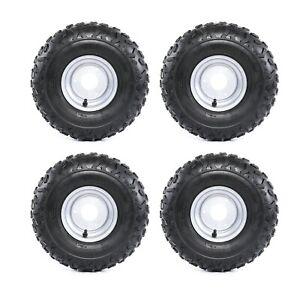 """4 Pack 145/70- 6"""" Tyre Wheel Rim 50/70/90/110/125cc Quad Bike ATV Go Kart Mower"""