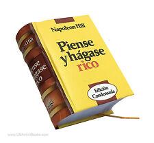 Nuevo 2017 Tapa Dura Miniature Libro Español Piense y Hágase Rico Napoleón Hill