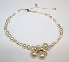 WEDDING Pearl Necklace Choker. Swarovski  Crystal. Hand Made in the USA.