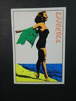 FIORUCCI STICKERS PANINI 1984 - SERIE Swim No.192 Beach girl Pop Art tara