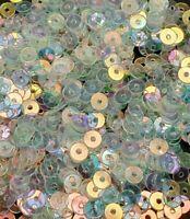 10g Pailletten Ø 4mm Crystal AB Glat für Deco Hochzeit Kleidung Schmuck PAI44