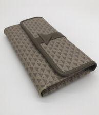 Liz Claiborne Wallet And Checkbook Signature Logo Tan Beige Tri-fold