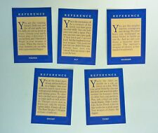 VTG 1993 Dragon Strike Board Game Reference Card CHOOSE ONE Replacement Parts