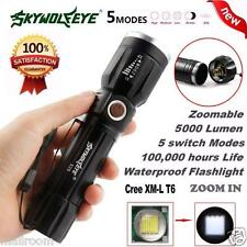 Sky Wolf Eye 5000Lumen 5Modes Zoomable CREE XM-L T6 LED 18650 Taschenlampen Lamp
