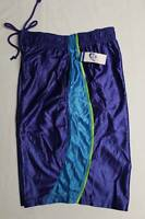 NEW Mens Athletic Shorts XL Blue Silky Basketball Workout Gym Running Pockets