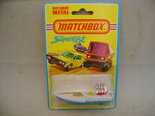 1976 MATCHBOX LESNEY SUPERFAST #5 SEAFIRE DRAG BOAT MOC
