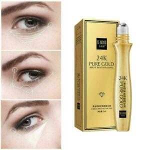 15ml Gold Roll-on Eye Serum Dark Circles Removal Moisturizing L6G2Hot Care A8M6