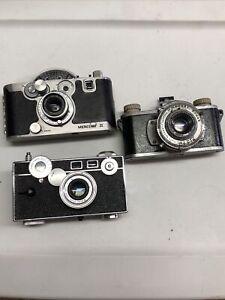 Lot of 3 Vintage Cameras Mercury ARGUS