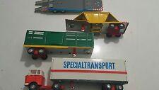 VINATGE TRUCK SPECIAL TRANSPORT 5010 TIN TOY MSB DDR GDR GERMAN SET 60'S