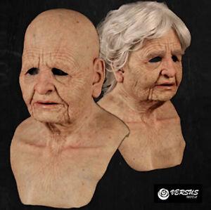 Maschera Anziano Vecchio Vecchia Carnevale Teatro Cosplay Old Woman Man OLDMASK1