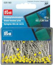 PRYM glass-headed pin 43mm x 0,60 jaune 40g