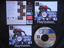 JEU Sony PLAYSTATION PS1 / PS2 : MADDEN NFL 99 (football américain SLES-01427)