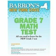 New York State Math Grade 7 Test, 2nd Edition-ExLibrary
