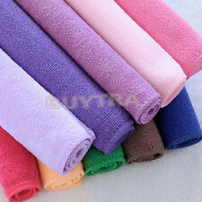 10 pcs Various Color Practical Luxury Soft Fiber Cotton Face/Hand Cloth Towel JR