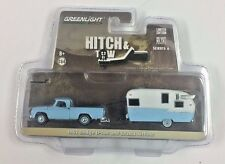 GREENLIGHT1963 DODGE D-100 AND SHASTA 15 AIRFLYTE HITCH & TOW 6 1/64