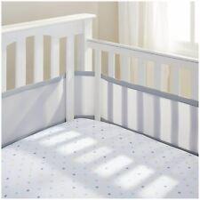 Airwrap Mesh lettino protettore lettino//culla//cotbed traspirante PARAURTI 2 lati Bianco
