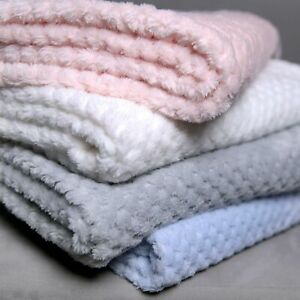 Soft Baby Fleece Blanket Honeycomb Waffle Newborn Gift 60x90cm For Cot Pram
