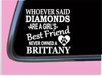 "Brittany Spaniel Diamonds TP 451 Sticker 6"" Decal rescue dog mom rescue pointer"