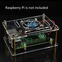Acrylic Clear Case Enclosure Box & Cooling Fan for Raspberry Pi 2/3 Model / B+