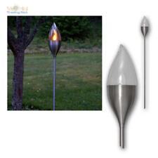 solar DEKO Ip44 Kunststoff Acryl LED Silber Dämmerungssensor