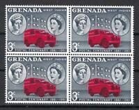 Grenada 1961 Sc# 187 Victoria & Elizabeth Mail truck West Indies block 4 MNH
