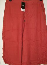 Next Drawstring Culottes rust brown loose cropped trousers Size 12 New Tags BNWT