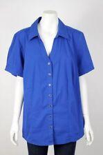 Autograph Short Sleeve Button Down Shirt Tops & Blouses for Women
