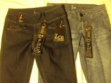 Ladies ZCO Jeans 2 Pair Adult Size 1 29 Waist x 33 Length New With Tags!