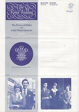 FRANCOBOLLI GB aerogram / air letter APS50 - 20p Royal Wedding, Charles & DIANA 1981