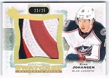 2013-14 ULTIMATE COLLECTION PREMIUM SWATCHES PATCH RYAN JOHANSEN 23/25 ! 3 COLOR