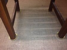 4 x XL Castor Cups Clear - 6cm internal diameter - floor protectors/easy move