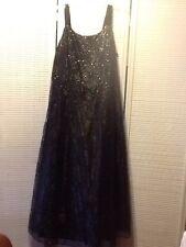 c68f93ab1da Onyx Nite By Wendye Chaitin Black Lace Ball Gown With Bonded Glitter Size 20