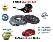 para Opel Vauxhall Corsa D 1.2 1.4 2006> EMBRAGUE Kit con Esclavo Concéntrico