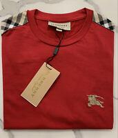 Burberry T shirt short sleeve Men's check shoulder patch sizes Small-XXL Britt