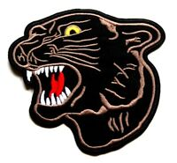 Black Panther Patch Big Cat Embroidered Iron Sew On  Applique Badge Motif Tiger