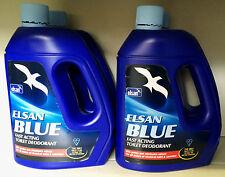 4 x ELSAN BLUE 4L CARAVAN/MOTOR HOME, NARROW BOAT, CANAL CRUISER TRAD YACHT