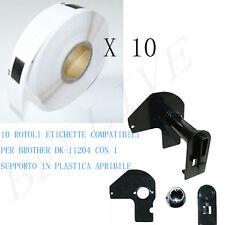 10 Etichette per Brother DK-11204 17X54mm QL 500 QL 500A QL 550 QL 560 VP QL 570