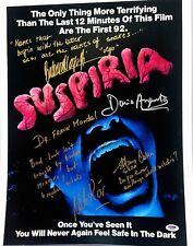 SUSPIRIA Signed AUTOGRAPH 16X20 4 Signatures, Dario Argento PSA/DNA #AB64460